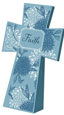 Tabletop Floral Cross, Faith  -