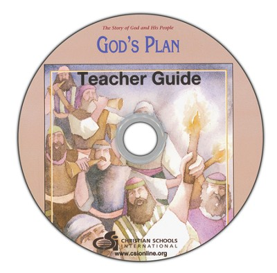 God's Plan Teacher's Guide & Black Line Master DVD-ROM  -