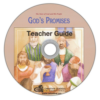 God's Promises Teacher's Guide & Black Line Master DVD-ROM  -