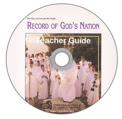 Record of God's Nation Teacher's Guide & Black Line  Master DVD-ROM  -