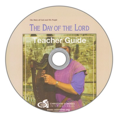 Day of the Lord Teacher's Guide & Black Line Master DVD-ROM  -