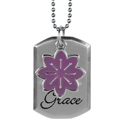 Saved By Grace Dog Tag  -