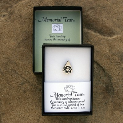 Memorial Tear Sterling Silver Lapel Pin   -     By: Kathy Bernu