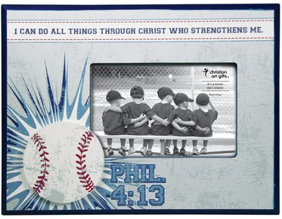 I Can Do All Things, Baseball Photo Frame  -