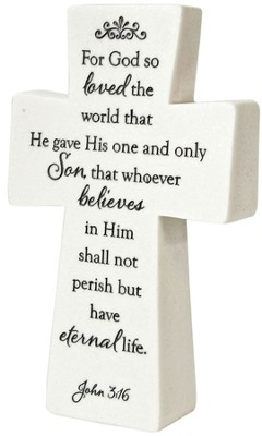 Tabletop Cross John 3:16  -