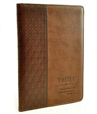 Trust Proverbs 3:5 Folder, Brown  -