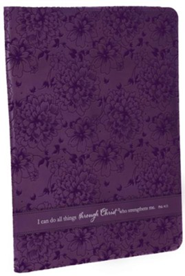 Can Do All Things Philippians 4:13 Folder, Purple  -