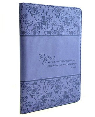 Rejoice Psalm 100:2 Folder, Blue  -