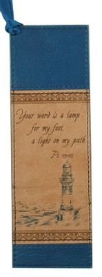 Lighthouse Bookmark, Tan  -
