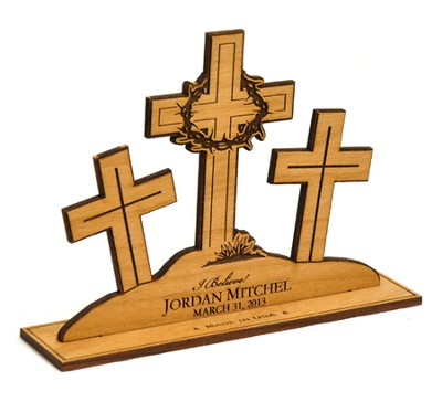 Personalized, 3 Crosses Silhouette   -