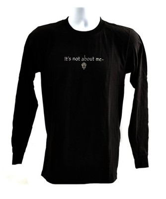 It's All About Him Long Sleeve T-Shirt, Black, Medium (38-40)   -