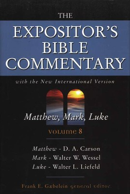 The Expositor's Bible Commentary: Matthew, Mark, Luke, Volume 8, Dust Jacket  -     By: Frank E. Gaebelein