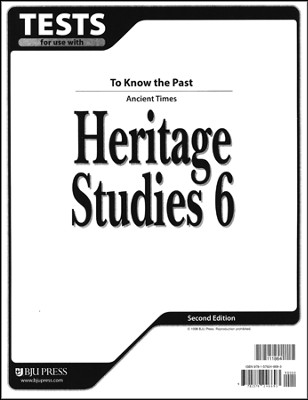 BJU Heritage Studies 6, Tests    -