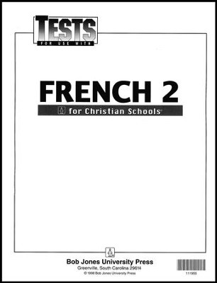 BJU French 2 Tests    -