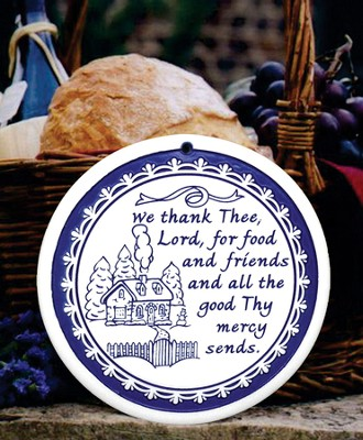We Thank Thee Lord, Porcelain Bread Warmer  -