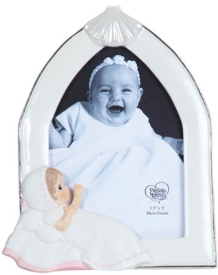 Baptism Photo Frame, Pink, Precious Moments  -     By: Precious Moments