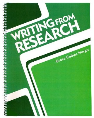 BJU Writing from Research Teacher's Edition Grades 7-12   -