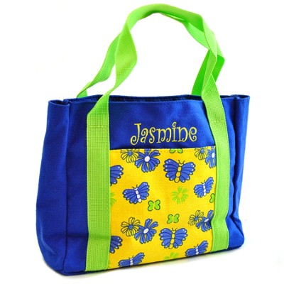 Personalized, My First Church Bag, With Butterflies   -
