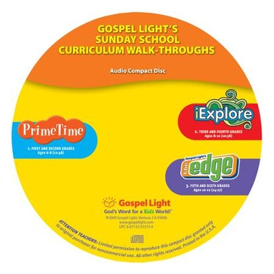 Curriculum Walk-Through Audio CD, Grades 1-6 (Undated)   -
