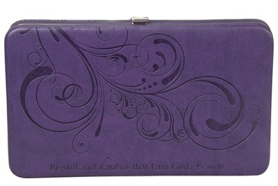 Be Still Clutch Wallet, Purple  -
