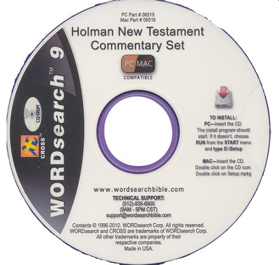 WORDsearch 9 PC/Mac - Holman New Testament Commentary on CDROM  -