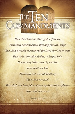 Ten Commandments (Exodus 20:3-17)/100 Bulletins  -
