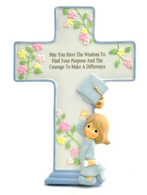 May You Have The Wisdom Graduation Cross, Precious Moments  -     By: Precious Moments