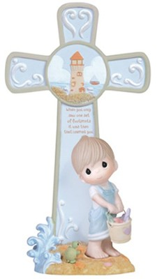 Footprints Cross, Boy, Precious Moments  -     By: Precious Moments