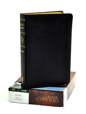 NAS Zondervan Study Bible, Genuine leather, Black   -