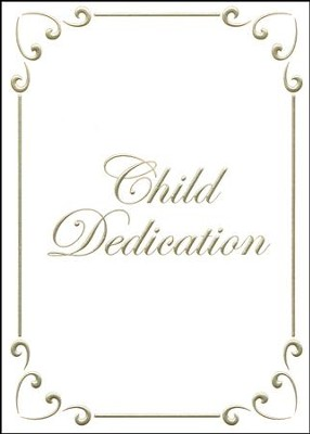 Child Dedication Certificate - Gold foil embossing, Premium stock  -