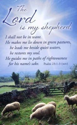 Postcard All Occasion: The Lord Is My Shepherd (Psalm 23:1-3, NIV)  -