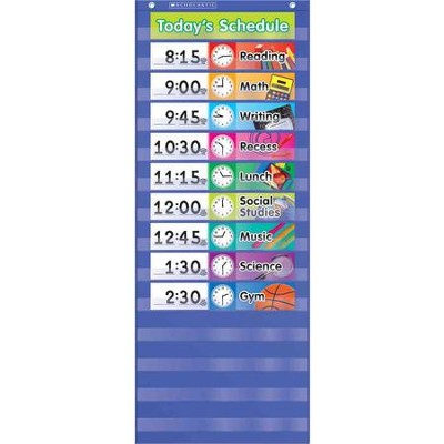 Daily Schedule Pocket Chart  -