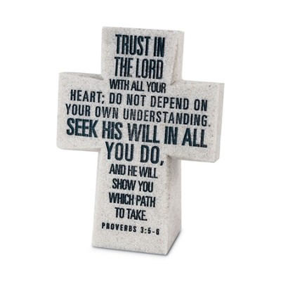 Trust in the Lord Desktop Cross  -