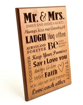 Personalized, Mr. and Mrs. Plaque   -