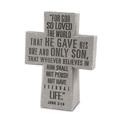For God So Loved the World Desktop Cross  -