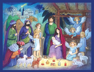 Candlelight Nativity Advent Calendar  -