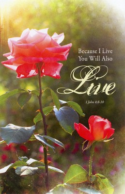 Because I Live (1 John 4:8-16) Bulletins, 100  -