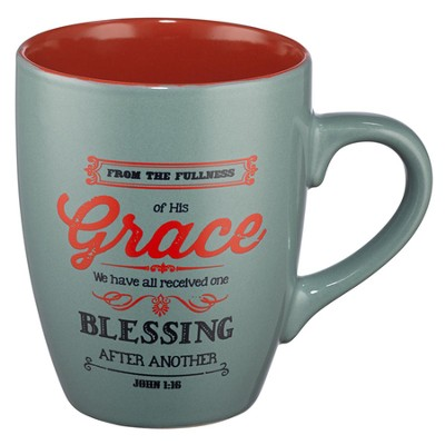 Grace, Retro Mug, Green  -