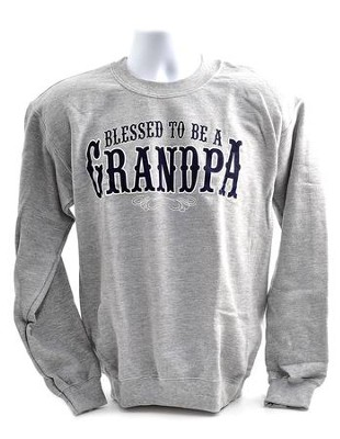 Blessed to Be a Grandpa, Sweatshirt, Medium (38-40)  -