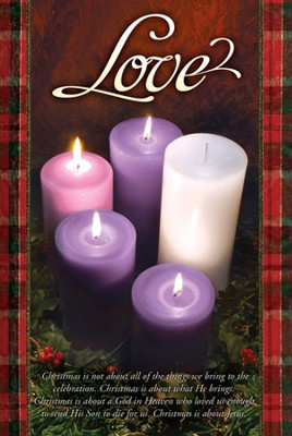 Love (John 3:16) Advent Bulletins, 100  -