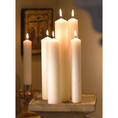 Altar Candles, 1 1/2 x 12, Plain End, Set of 12     -