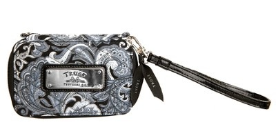 Trust, Paisley Wristlet, Black and White  -