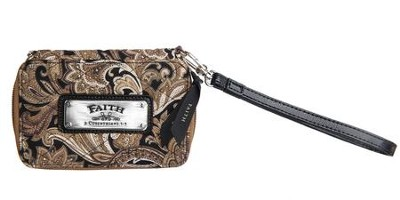 Faith, Paisley Wristlet, Brown  -