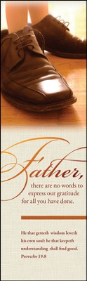 Father's Shoes (Proverbs 19:8) Bookmarks, 25  -