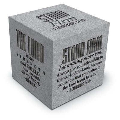 Stand Firm Scripture Block  -