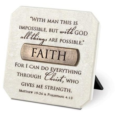 Faith Plaque with Bronze Title Bar  -