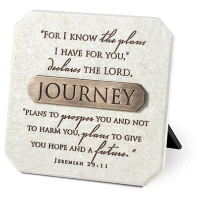 Journey Plaque with Bronze Title Bar  -