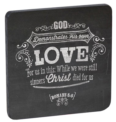 Love, Retro Wood Magnet  -
