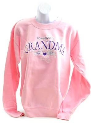 Blessed To Be A Grandma, Crewneck Sweatshirt, Large (42-44)  -