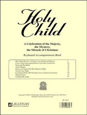 Holy Child, Keyboard Accompaniment Book  -